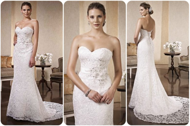 Size 8- Ivory/Silver- Retail Price £1,640- Sale Price £800